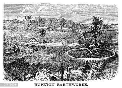Hopeton Earthworks - Scanned 1890 Engraving