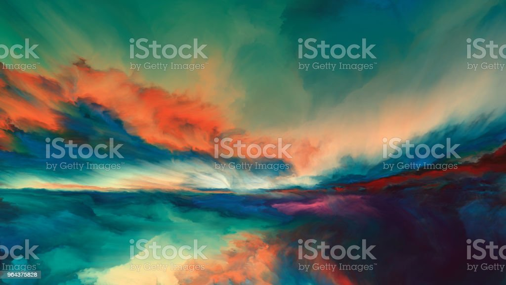 Horizon Paint royalty-free horizon paint stock illustration - download image now