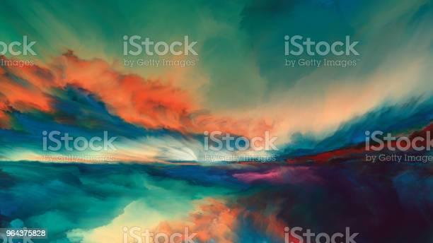 Horizon Paint - Arte vetorial de stock e mais imagens de Abstrato