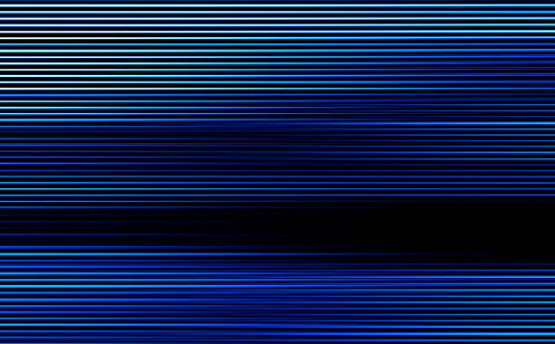 Horizontal blue scanline lines illustration background vector art illustration