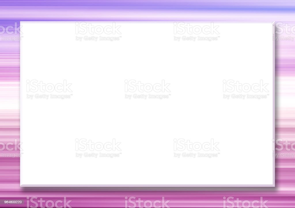 Horizontal mock up template with big white rectangular screen. Multicolored striped border, abstract purple, magenta, pink background. Frame for scrapbook, photo albums, greeting cards, postcards, posters, flyers, web pages, presentations, invitations royalty-free horizontal mock up template with big white rectangular screen multicolored striped border abstract purple magenta pink background frame for scrapbook photo albums greeting cards postcards posters flyers web pages presentations invitations stock vector art & more images of abstract