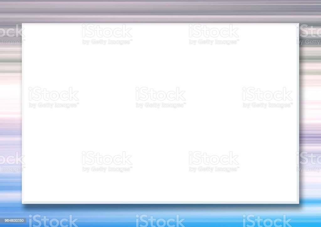 Horizontal mock up template with big white rectangular screen. Multicolored striped border, abstract blue, violet, white, pale pink background. Frame for scrapbook, photo albums, greeting cards, postcards, posters, flyers, web pages, presentations, invita royalty-free horizontal mock up template with big white rectangular screen multicolored striped border abstract blue violet white pale pink background frame for scrapbook photo albums greeting cards postcards posters flyers web pages presentations invita stock vector art & more images of abstract