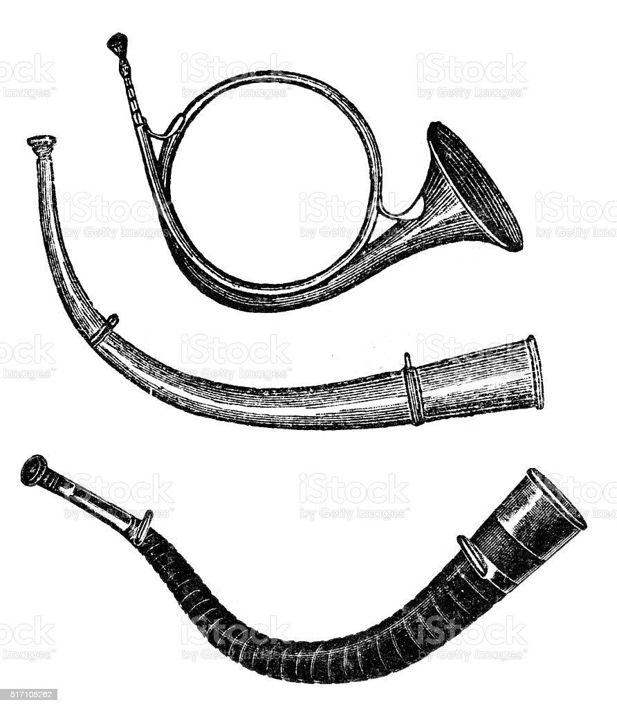 horn vector art illustration