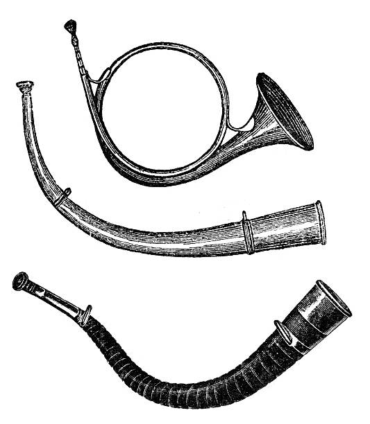 horn - waltornista stock illustrations