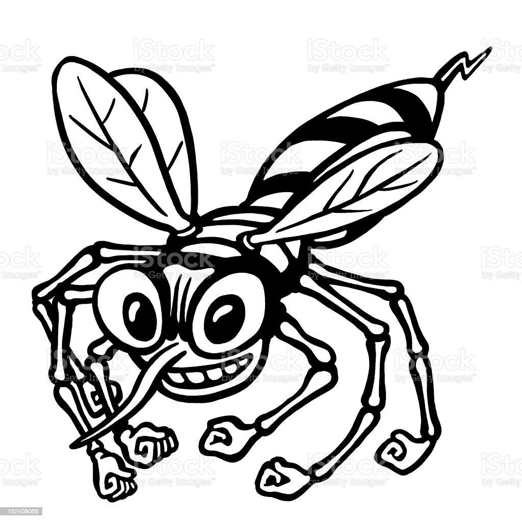 Hornet vector art illustration