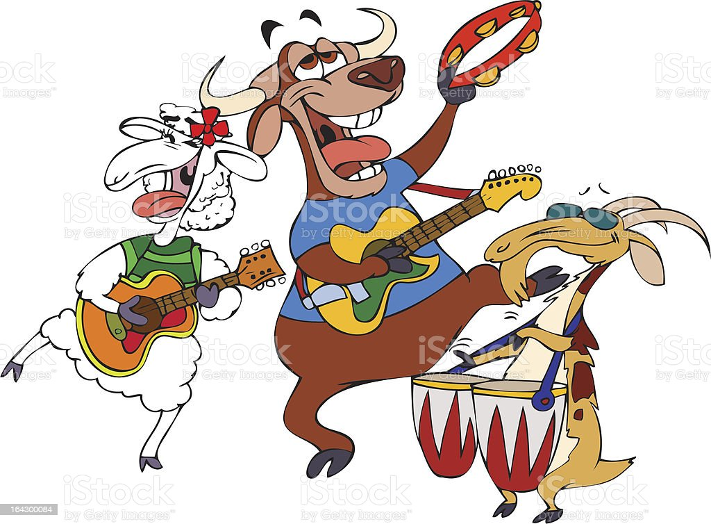 Hornies Band royalty-free hornies band stock vector art & more images of animal