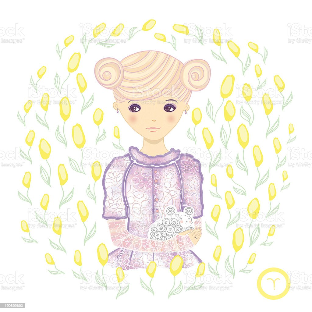 Horoscope. Zodiac signs-Aries. royalty-free horoscope zodiac signsaries stock vector art & more images of adult
