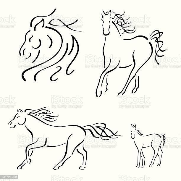 Horse design set illustration id92721995?b=1&k=6&m=92721995&s=612x612&h=l upus2vvrpxqg6tzbpv 9n8cc6fbiqgszroujyvej8=