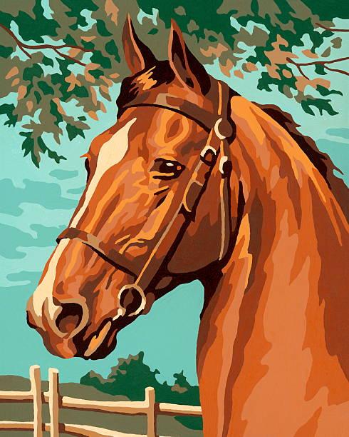 ilustrações de stock, clip art, desenhos animados e ícones de cavalo - um animal