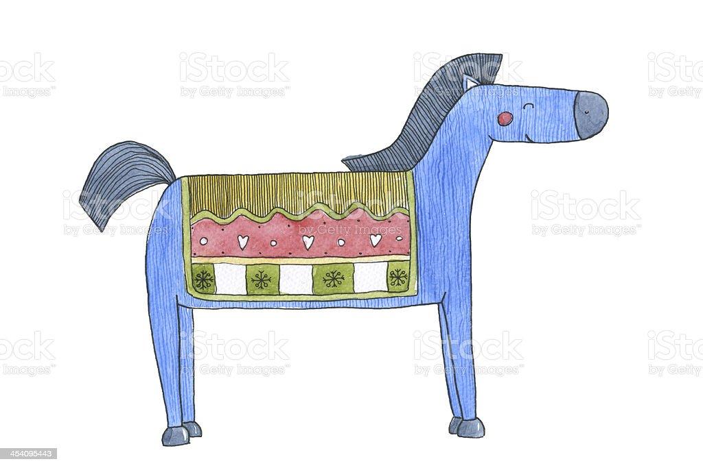 Horse Watercolor vector art illustration
