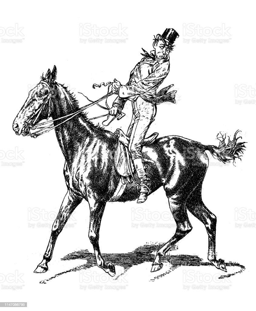 Horseback Riding Stock Illustration Download Image Now Istock