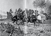 istock Horsemen skirmish in war 1311786118
