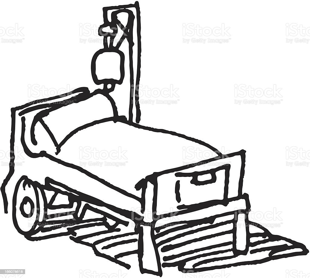 hospital bed sketch stock vector art more images of assistance rh istockphoto com girl hospital bed clipart hospital bed clipart images