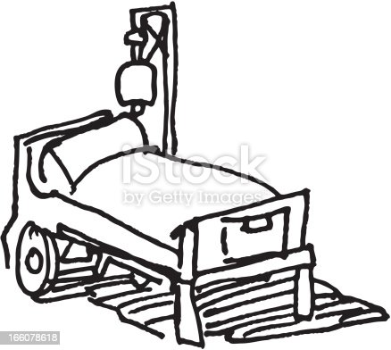 Hospital Bed Sketch Stock Vector Art & More Images of