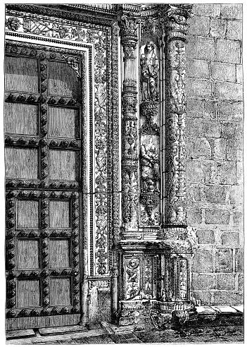 Hospital de Santa Cruz in Toledo, Spain - 19th Century