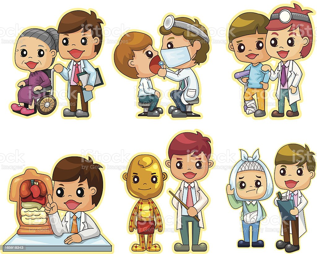 Hospital doctors vector art illustration