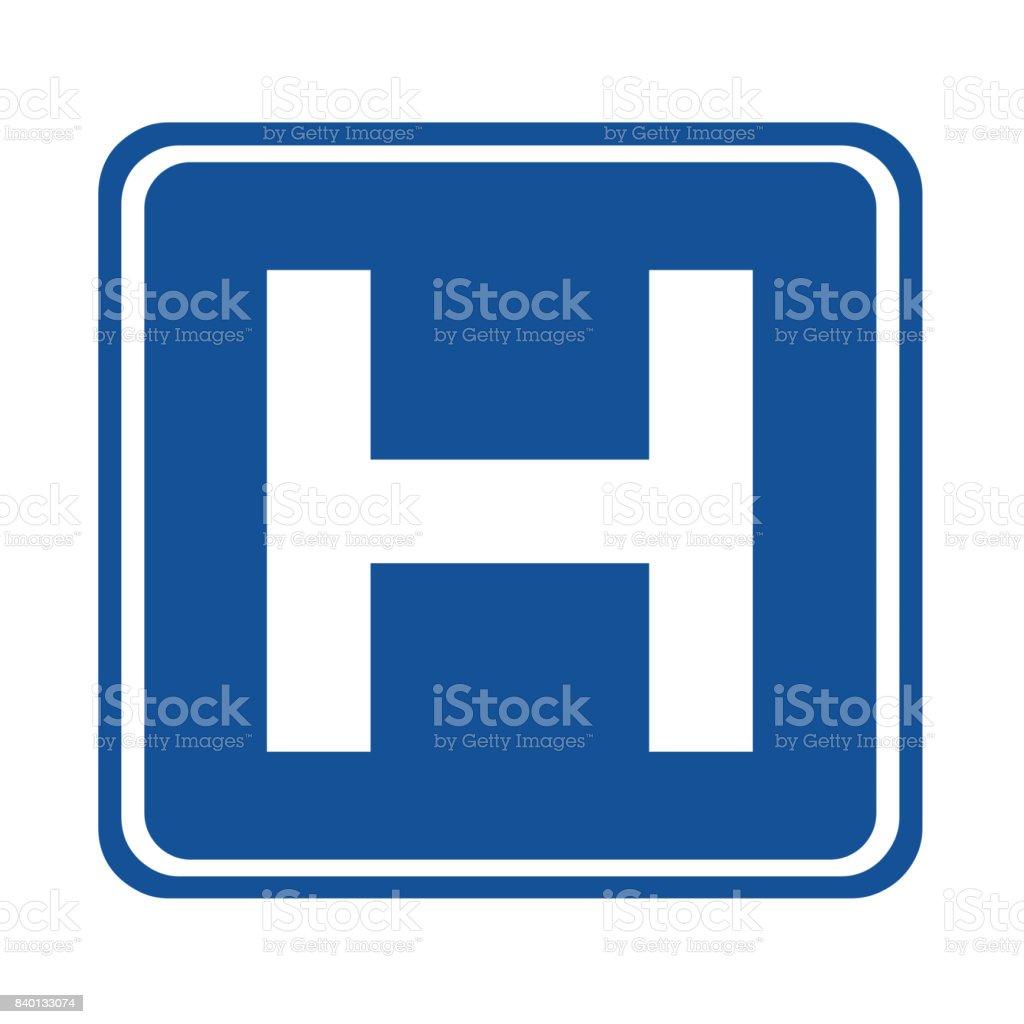 Hospital sign vector art illustration