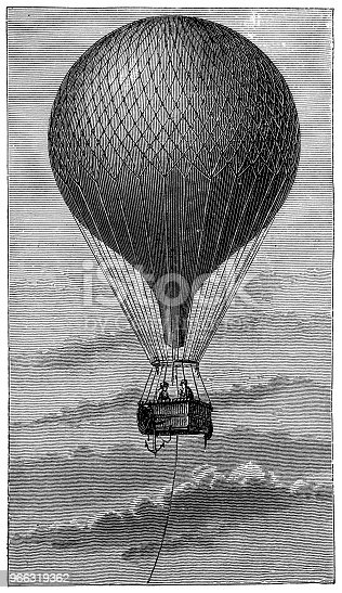 Illustration of a Hot Air Balloon full of gas