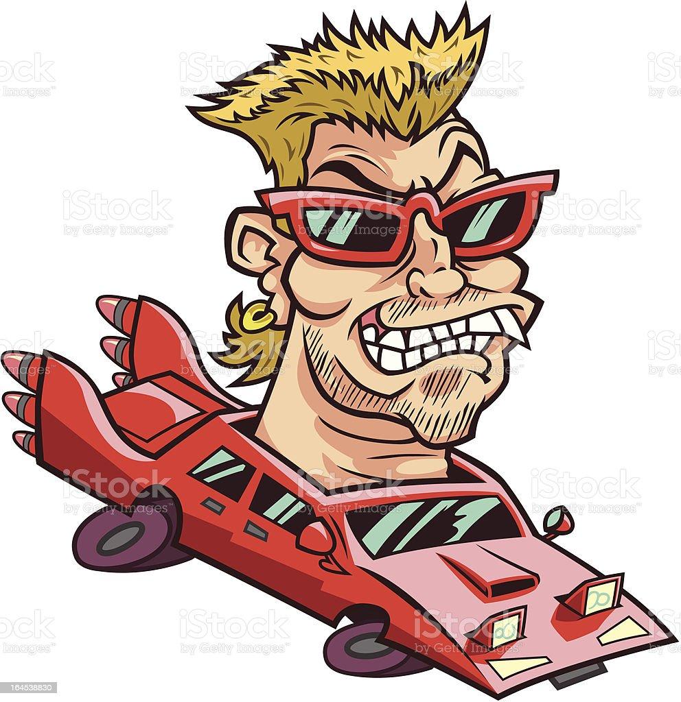 Hot Car Guy royalty-free stock vector art