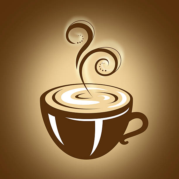 Hot Cup of Coffee with Steam vector art illustration