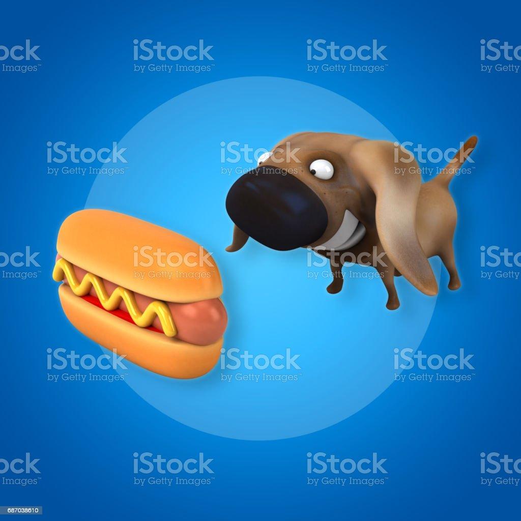 Hot dog-Schnellimbiss  Lizenzfreies hot dogschnellimbiss stock vektor art und mehr bilder von braun