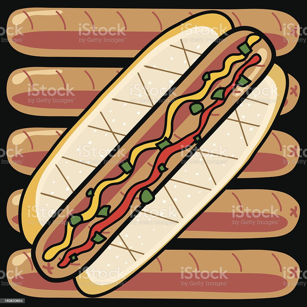Hot Dogs! vector art illustration