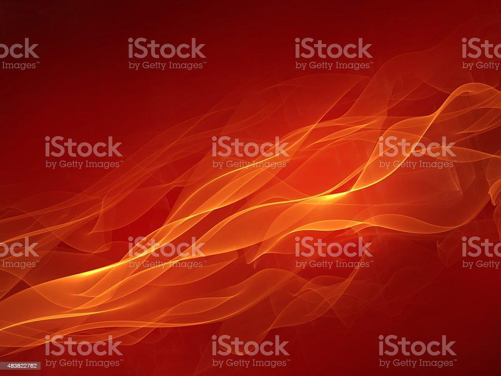 Hot red background vector art illustration