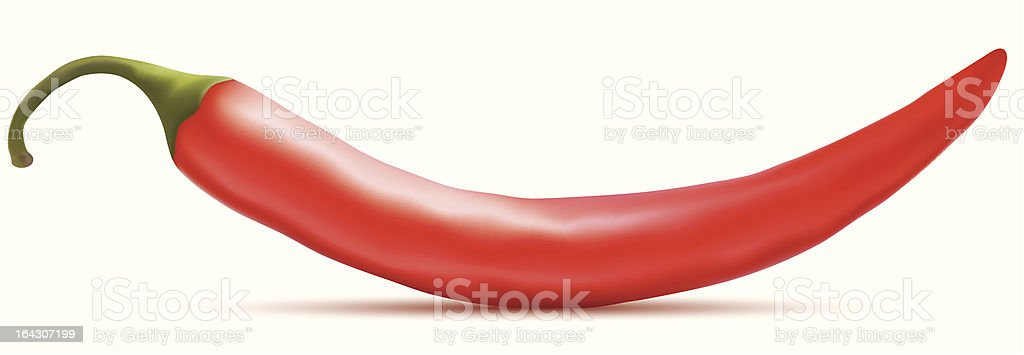 Hot red chili pepper royalty-free stock vector art