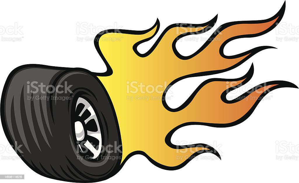 hot rod wheel royalty-free hot rod wheel stock vector art & more images of burning