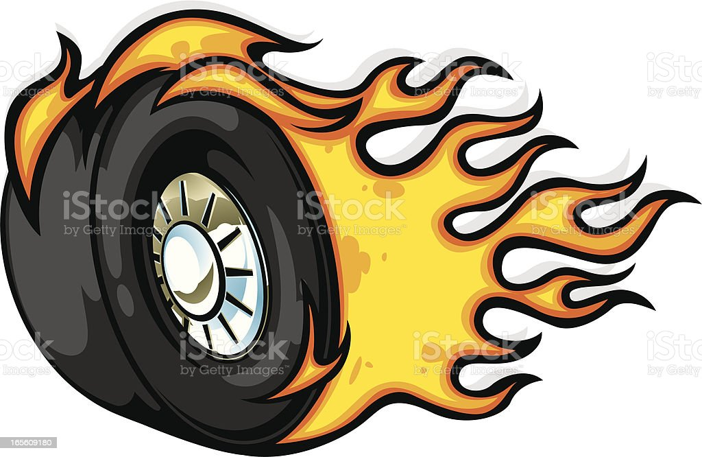 hot rodder royalty-free stock vector art