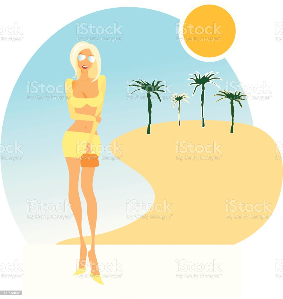 Hot summer chick royalty-free stock vector art