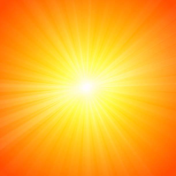 illustrazioni stock, clip art, cartoni animati e icone di tendenza di caldo sole estivo, sfondo astratto - flare