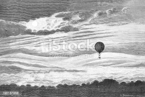 istock Hot-air baloon flight 155137033