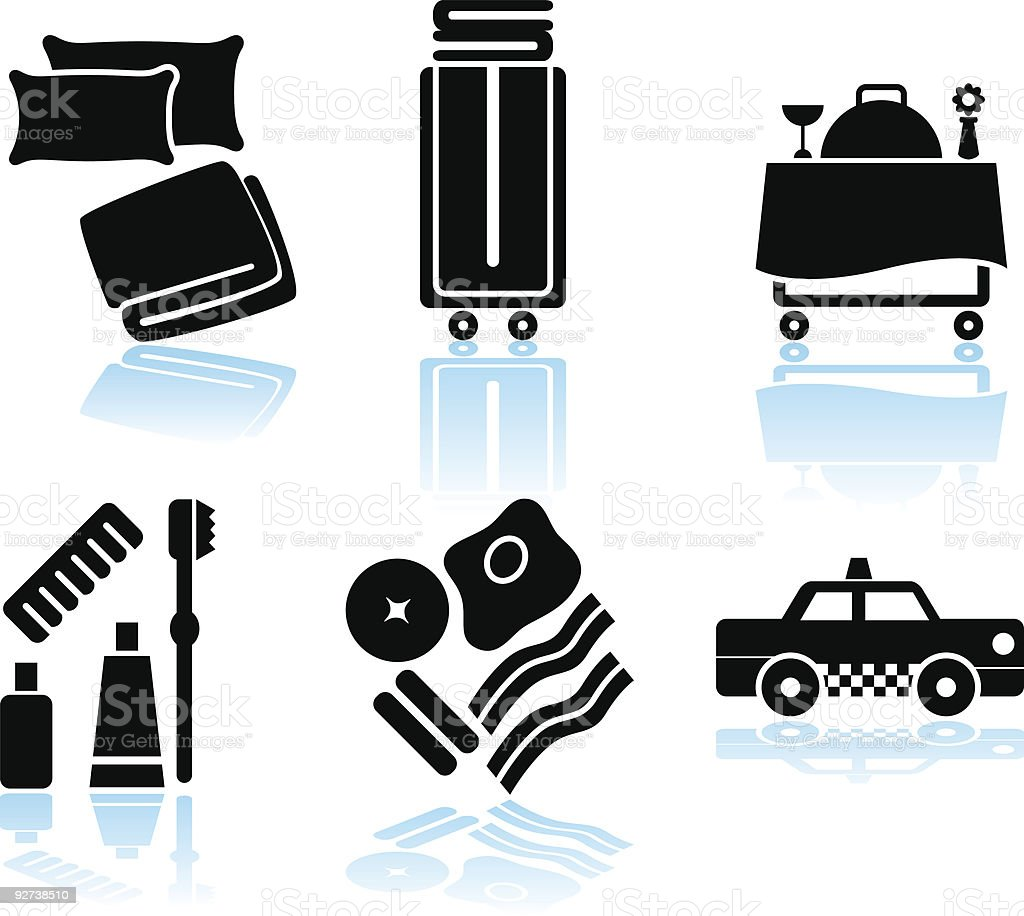 Hotel Items vector art illustration