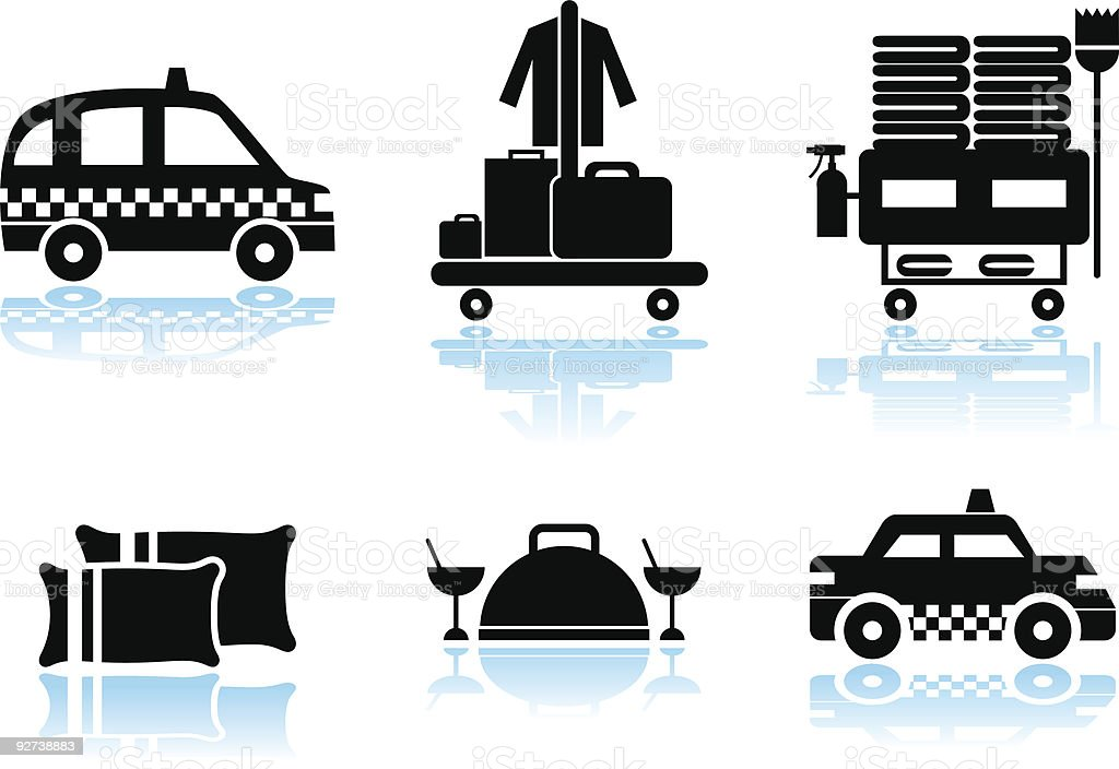 Hotel Service Set royalty-free hotel service set stock vector art & more images of black and white