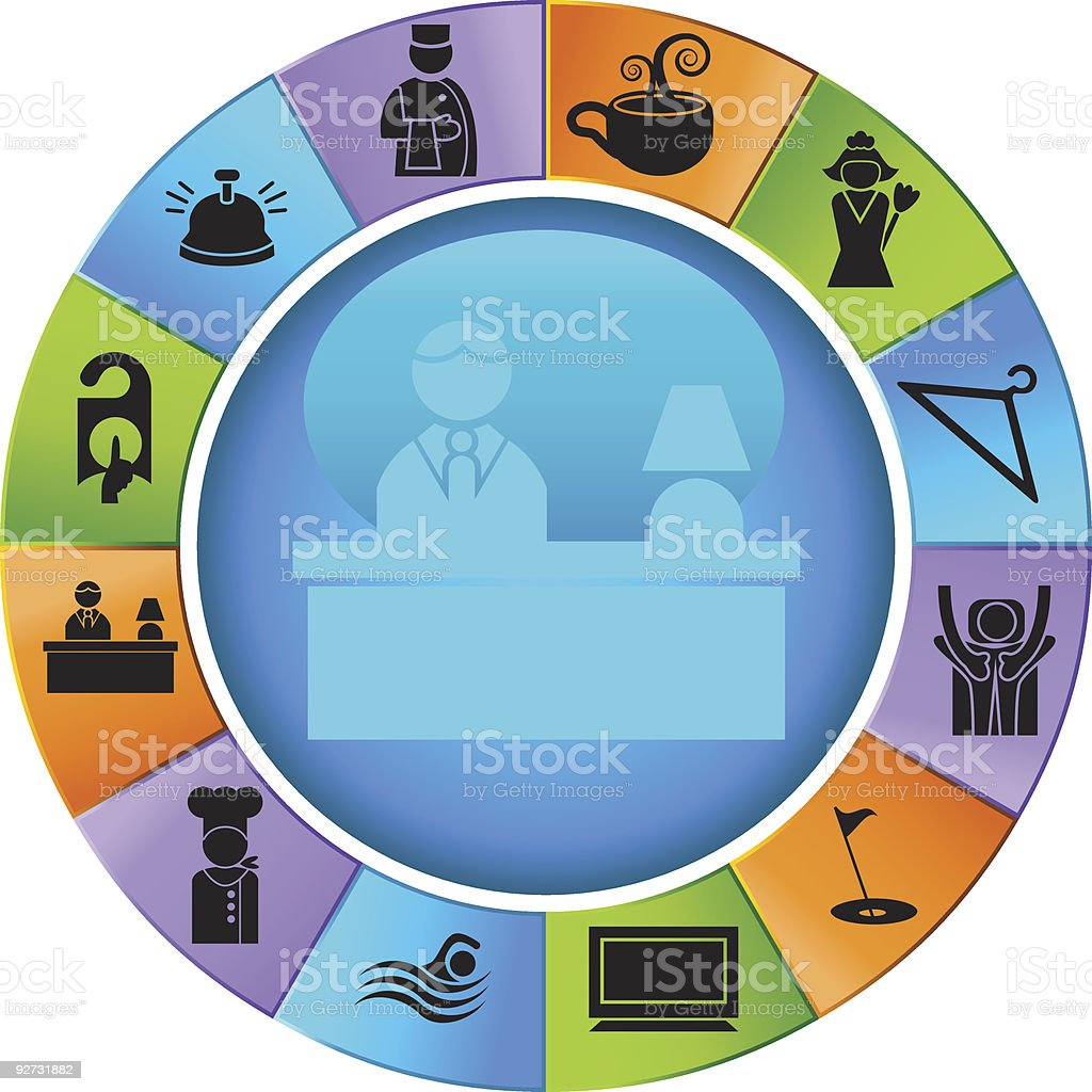 Hotel Wheel royalty-free hotel wheel stock vector art & more images of bell