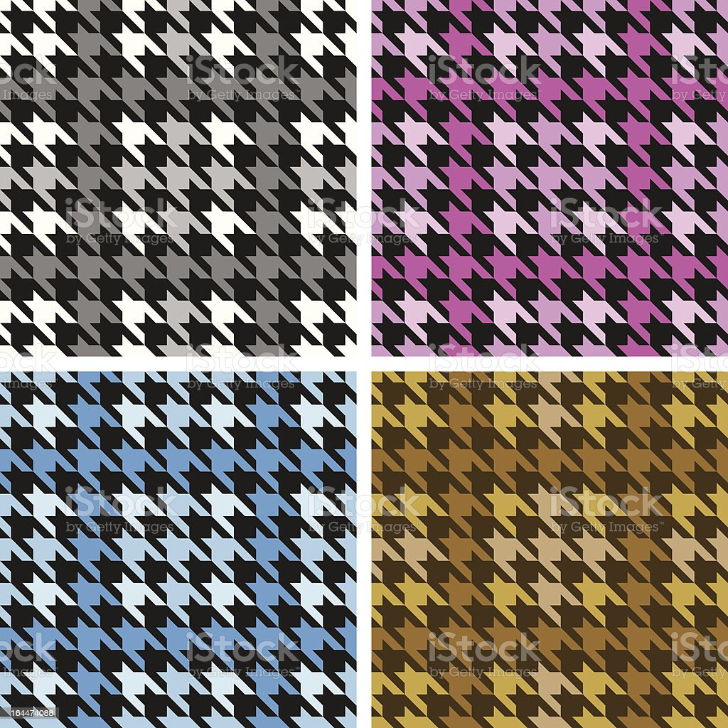 Houndstooth Plaid royalty-free stock vector art