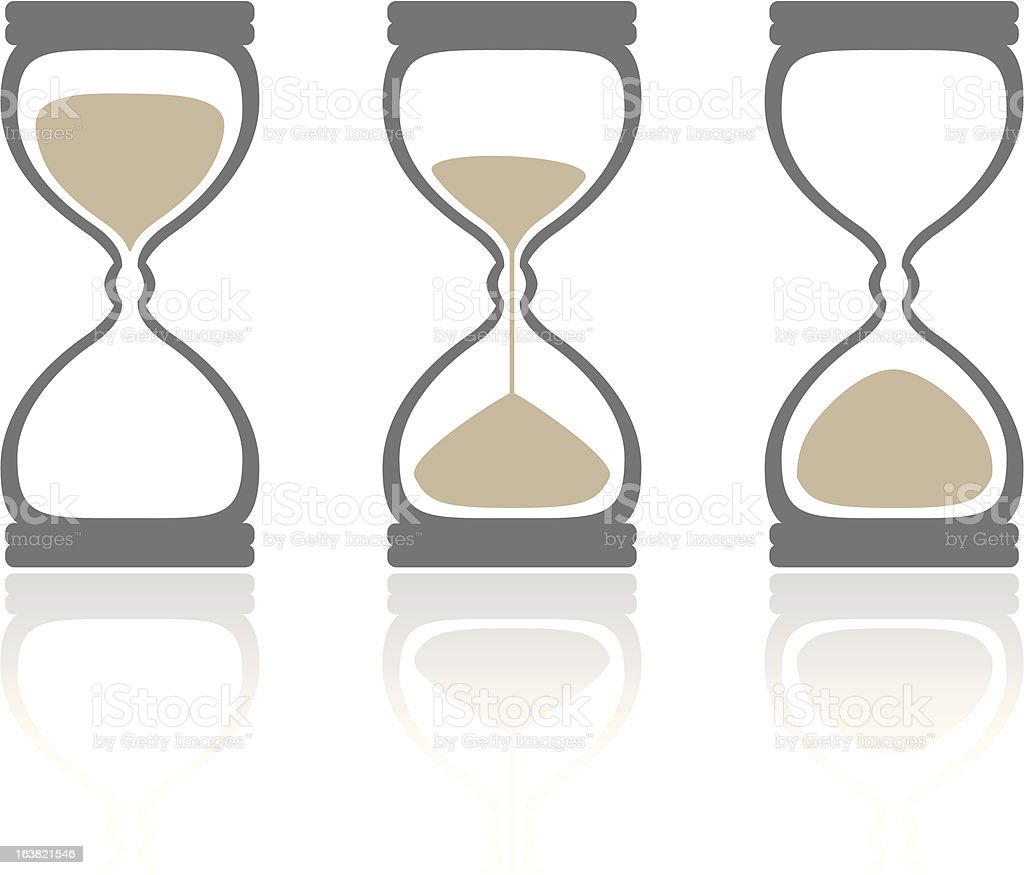 hourglass' royalty-free hourglass stock vector art & more images of clock