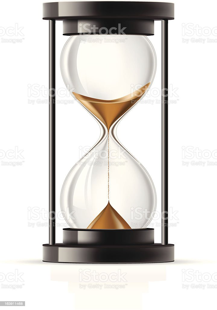 Hourglass royalty-free stock vector art