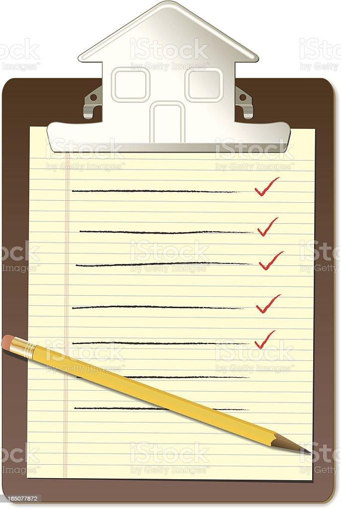 House Checklist royalty-free stock vector art