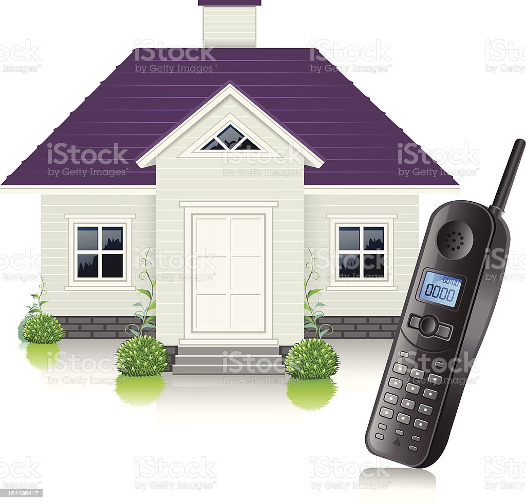 House Contact vector art illustration