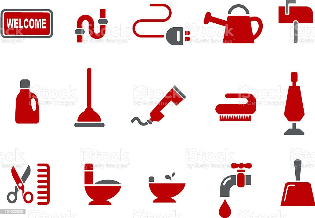House Icon Set royalty-free stock vector art