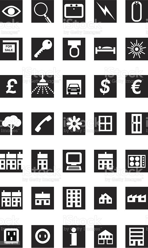 House icons royalty-free stock vector art