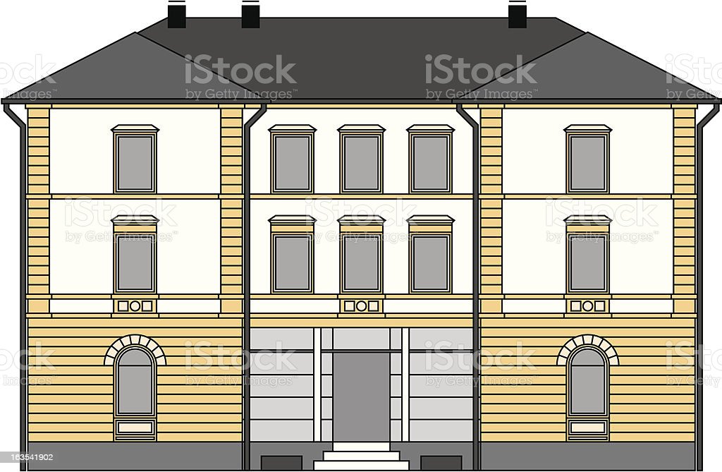 house (vector) royalty-free stock vector art
