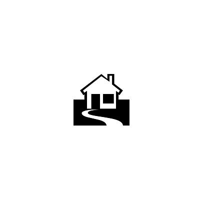 house illustration isolated on white background