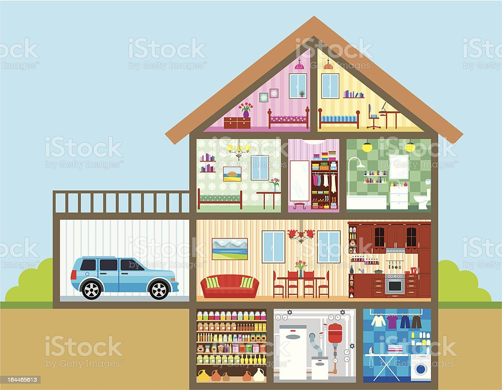 House in a cut royalty-free house in a cut stock vector art & more images of architectural feature