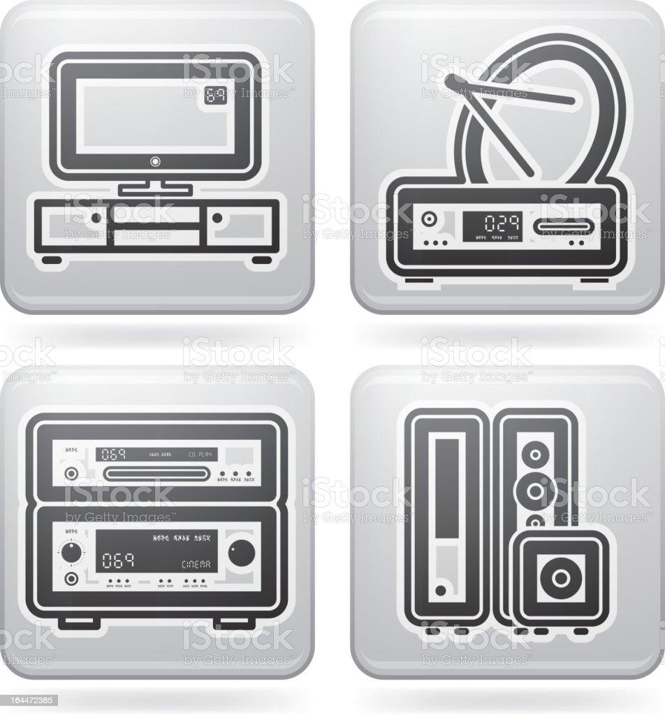 House Items vector art illustration