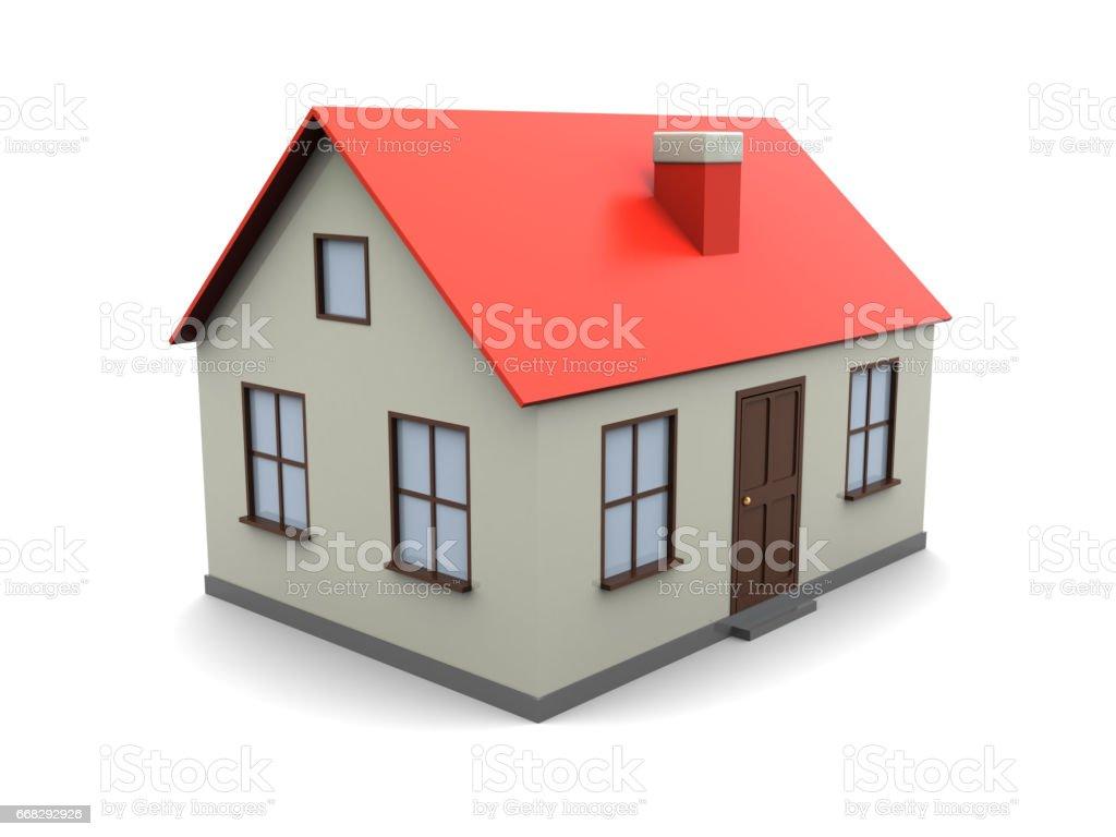 house model vector art illustration