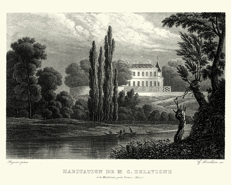 House of Casimir Delavigne, Chateau de la Madeleine, 19th Century