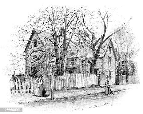 istock House of Seven Gables in Salem, Massachusetts, United States - 19th Century 1166668951